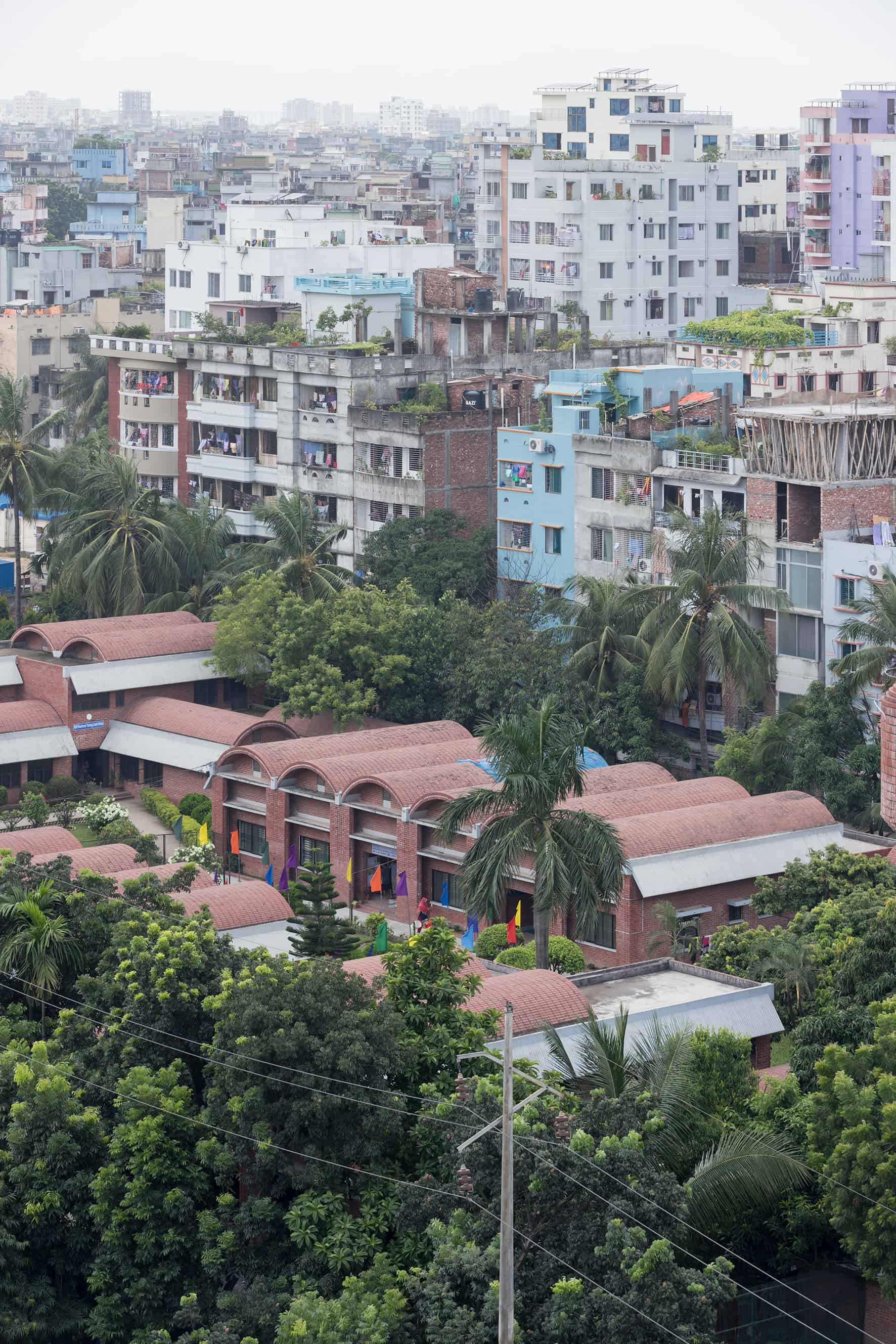 SOS Youth Village and Vocational Centre; Mirpur, Dhaka \ Architect: C.A.P.E Raziul Ahsan; © Iwan Baan