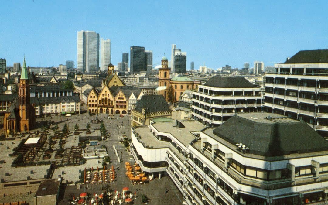 Dom-Römer-Areal mit Technischem Rathaus, Postkarte \ Foto: ca. 1978, © Verlag Arthur F. Krüger