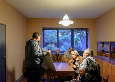 Freunde vor Ort: Ernst-May-Haus \ Foto: Moritz Bernoully