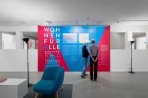 Eindrücke der Ausstellung Wohnen für alle \ Foto: Moritz Bernoully