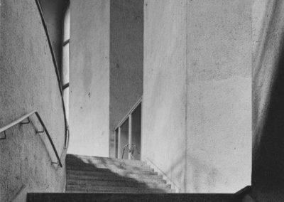 Treppenaufgang in den Saal, ca. 1948