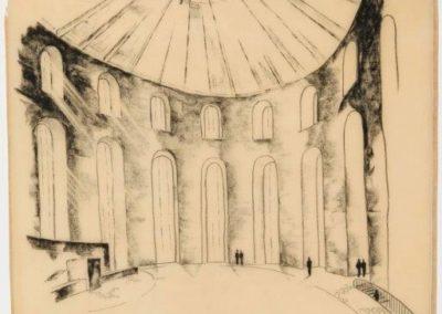 Planungsgemeinschaft Paulskirche, Entwurf des Saals, ca. 1946