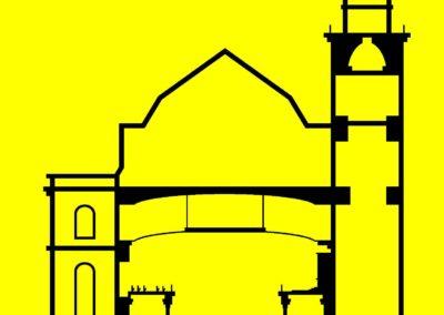 Schnitt durch die historische Paulskirche (1848)