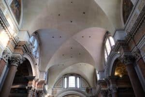 Gewölbe des Frigidariums der Diokletiansthermen, Foto Quast 2393 (Restaurierung durch Michelangelo)