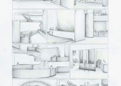 Storyboard der Innenraumsequenz I © Afrouz Tehrani/HSRM