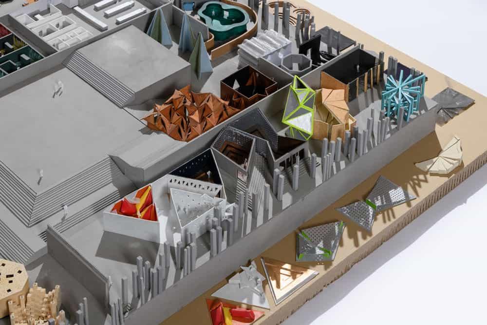 Modell 1:100: Salonetage, Detail I © Moritz Bernoully / HSRM