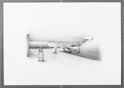 Bleistiftperspektive der Wandelhalle von Anna Katkova I © Anna Katkova / HSRM