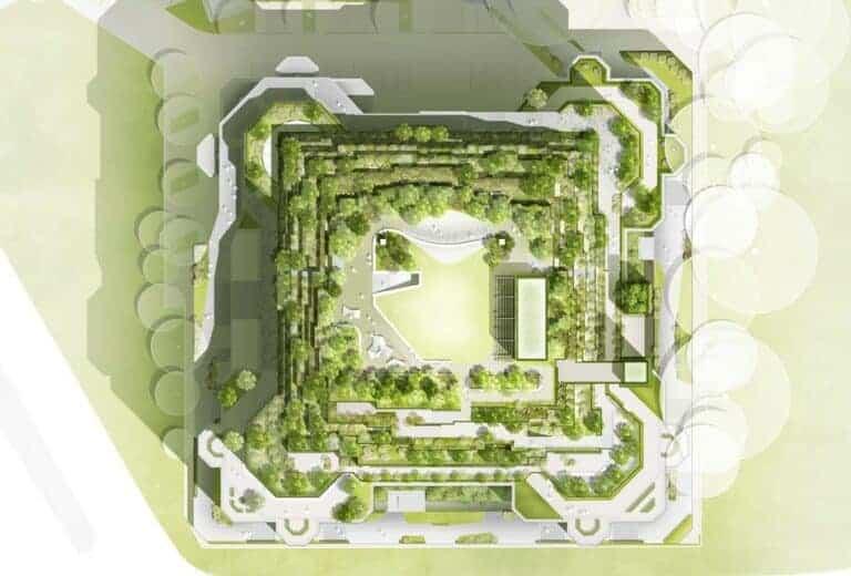 Internationale  Landschaftsarchitektur STADTGRÜN 3D: FOUR Frankfurt — Urbanes Quartier der Zukunft