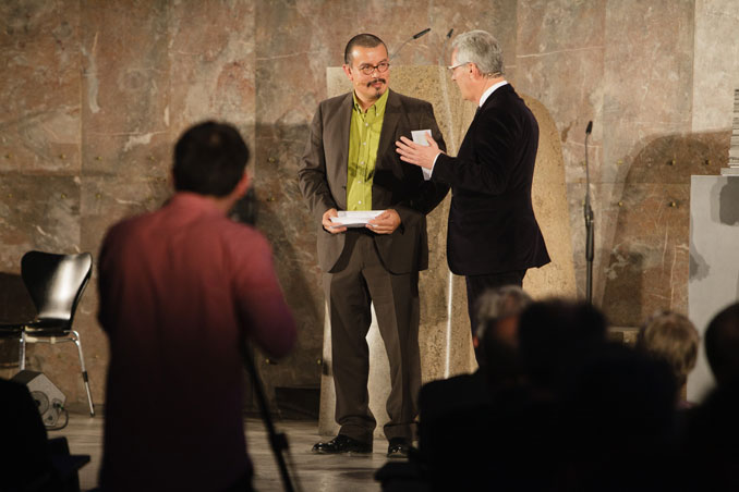 Prize-giving ceremony IHA 2012, Peter Cachola Schmal, Dr. Rolf Kiefer, photo: Fritz Philipp